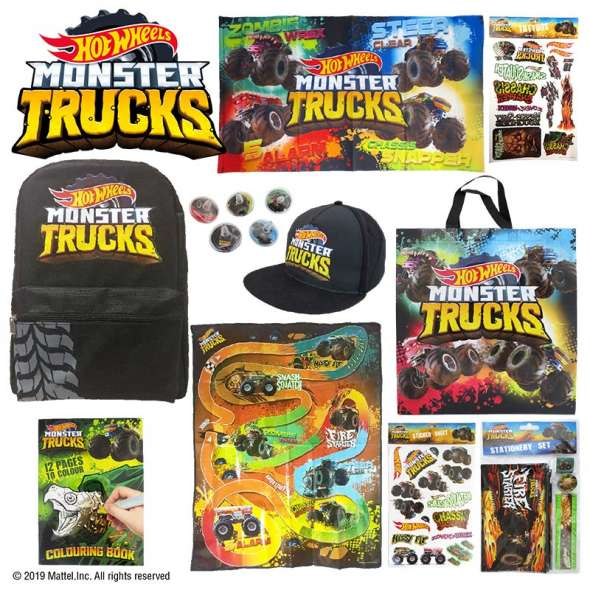 HOT WHEELS MONSTER TRUCK SHOWBAG