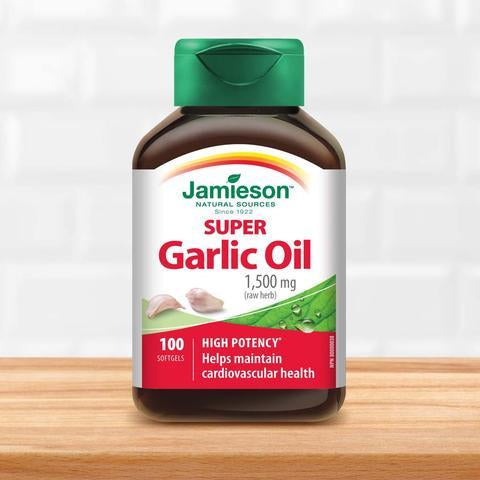 Jamieson Super Garlic oil 1,500mg 超级大蒜油 100 softgels