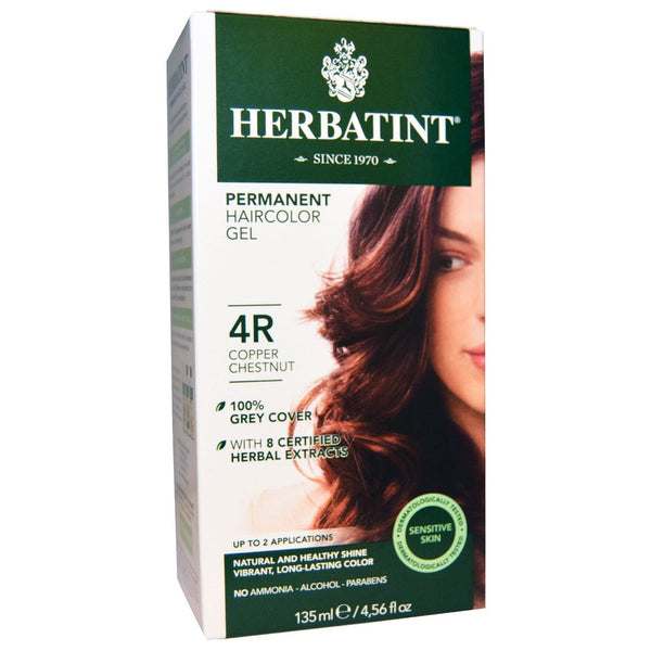"Herbatint ""R"" Copper Natural Herb Based Hair Colour 4R Copper Chestnut ""天然铜基天然发色4R铜栗色"