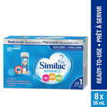 Similac Advance Step 1 Ready-To-Use Baby Formula, 8 x 59 mL 雅培一段水奶带奶嘴