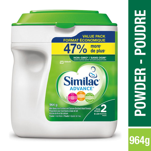 Similac Advance Step 2 Baby Formula Powder + DHA, Lutein & Vtmn E 964 g雅培二段超值装