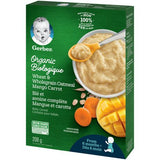 Gerber Organic Wheat & Wholegrain Oat Mango Carrot Baby Cereal 208g 有机小麦和全麦燕麦芒果胡萝卜婴儿米糊