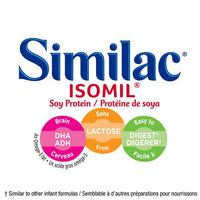Similac Isomil with DHA Baby Formula Powder, Lactose-Free, 800 g 雅培一段含DHA婴儿配方粉,无乳糖