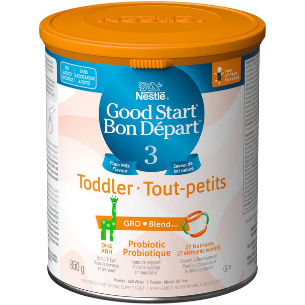 NESTLÉ GOOD START Stage 3, GRO-BLEND Plain Milk Flavour, Toddler Formula 850 g 雀巢三段普通牛奶味婴儿配方奶粉