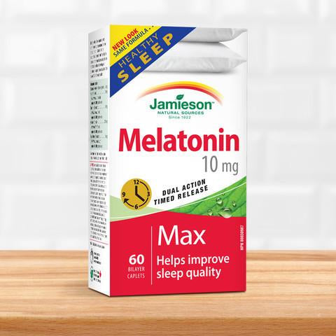 Jamieson Melatonin 10mg Dual Action Timed Release 褪黑素 60 caplets