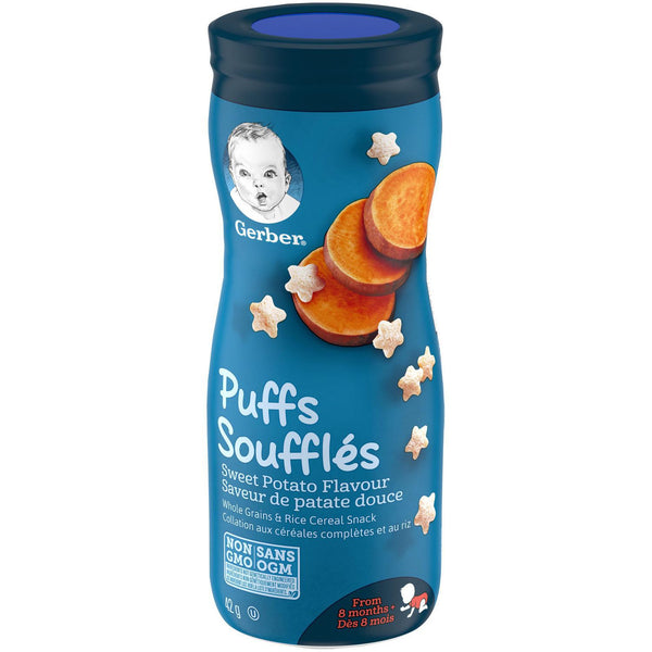 GERBER PUFFS, Sweet Potato, Baby Snacks 42g 泡芙番薯,婴儿零食42g