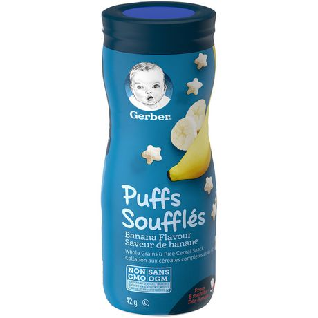 GERBER PUFFS, Banana, Baby Snacks 42g 泡芙香蕉,婴儿零食42g