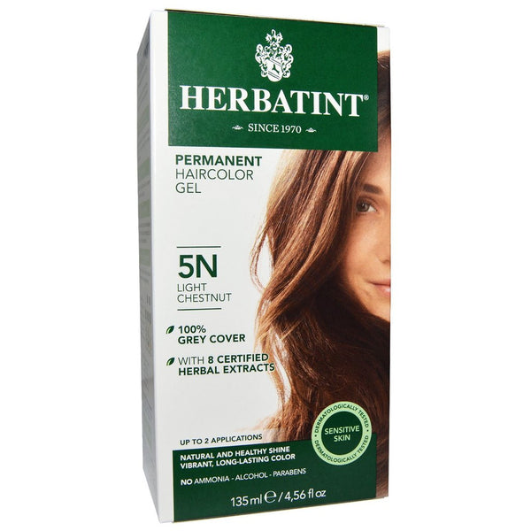"Herbatint ""N"" Series Natural Herb Based Hair Colour 5N Light Chestnut "" N""系列天然植物基染发剂5N浅栗色"