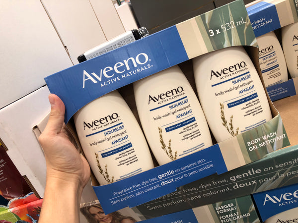 Aveeno Skin Relief Bodywash 3x532ml艾维诺skin relief燕麦乳木果保湿沐浴露