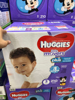 Huggies Little Movers Diapers Size 3 Pack of 210好奇3号纸尿裤 210片