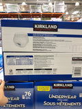 Kirkland Signature Protective Underwear Men L/XL 76 Count可兰男大号超大号纸尿裤76片