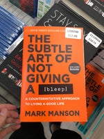 The Subtle Art of Not Giving A bleep by Mark Manson 没有发出嘘声的微妙艺术