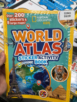 National Geographic Kids World Atlas Sticker Activity Book 国家地理儿童世界地图集贴纸活动书
