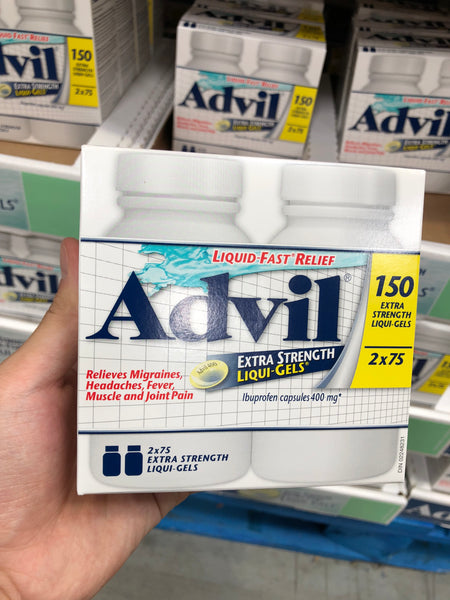 Advil Extra Strength Liqui-Gels 400mg 2x75s Advil缓解疼痛 400毫克 75粒*2