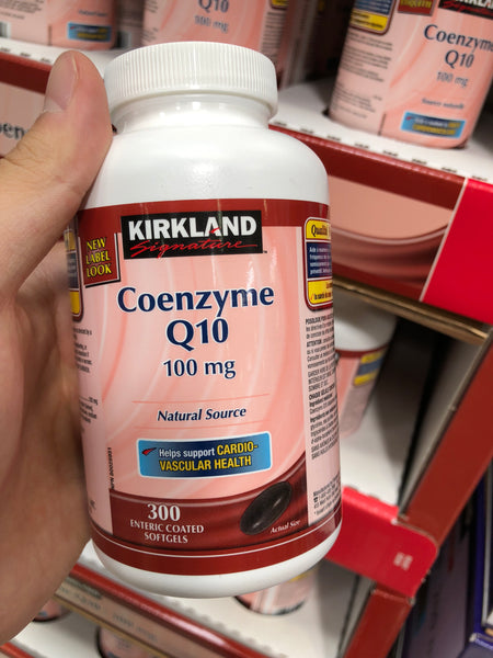 Kirkland Signature Coenzyme Q10 100MG 300 Softgels可兰辅酶Q10 100mg 300粒
