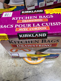 "Kirkland Signature  Kitchen bags pk of 200 24""x27""可兰高级束口垃圾袋49.2公升*200入"