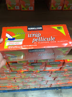 Kirkland Signature Plastic Food Wrap, 30.5 cm × 914.4 m (12 in × 3,000 ft) 可兰食品保鲜膜自带切割