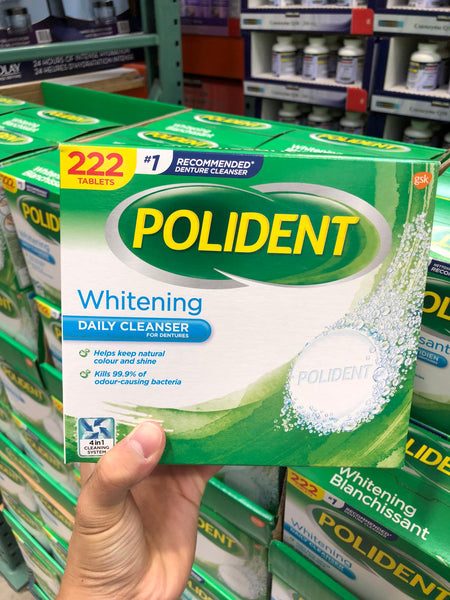 Polident Whitening Denture Cleanser Pack of 222保丽净全/半口假牙清洁片200片