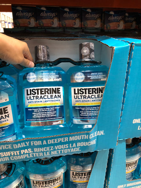 Listerine Ultraclean mouthwash 2x1.5L李施德林漱口水冰蓝1.5L*2