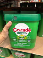 Carscade Power Clean Dishwasher Detergent 115 tabs    11倍高效浓缩洗碗球洗碗机专用115粒