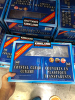 Kirkland Signature Crystal Clear Culery pack of 360水晶透明餐具包 360套