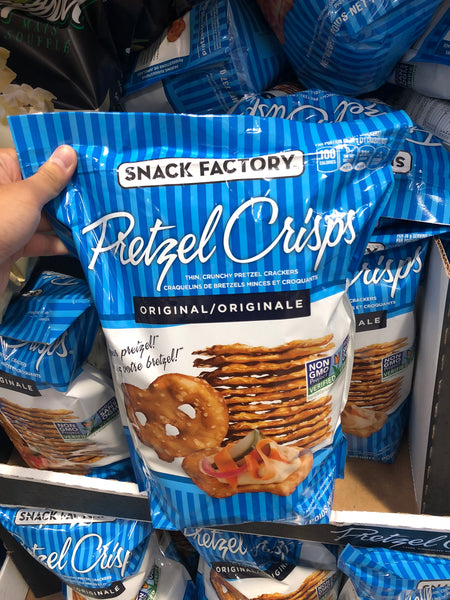 The Snack Factory Pretzel Crisps 737g原味椒盐卷饼薄脆