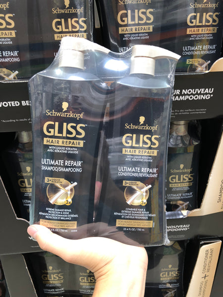 Schwarzkopf Gliss Shampoo & Conditioner 2x750ml 洗发水和护发素