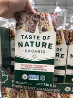 Taste Of Nature Fruit and Nut Bars 18x40 g  有机能量棒蔓越莓杏仁巴西果