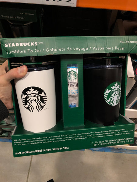 Starbucks Stainless Steel Tumblers 2PK 星巴克不锈钢随行杯2PK