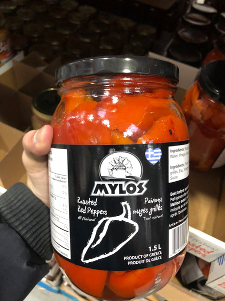 Mylos Roasted Red Peppers 1.5L 烤红辣椒1.5L