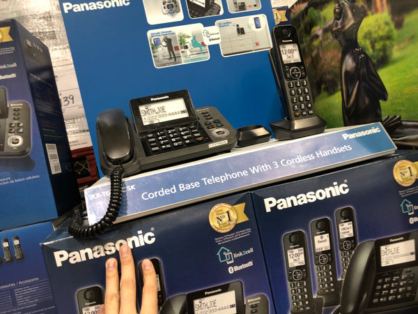 Panasonic KXTG153C 3 Cordless 1 Corded ^ Bluetooth Phone 3无绳1有线^蓝牙座机