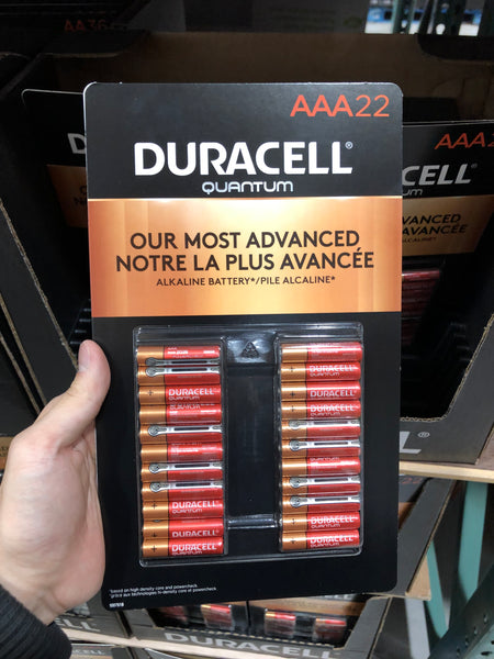 "Duracell Quantum ""AAA"" batteries pack of 22 ""AAA""电池组22个"