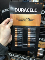 Duracell AAA batteries pack of 28 AAA电池组28个