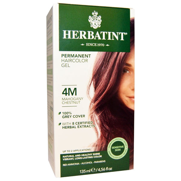 "Herbatint ""M"" Series Mahogany Natural Herb Based Hair Colour 4M Mahogany Blonde 桃花心木天然草本植物染发剂4M桃花心木金发"