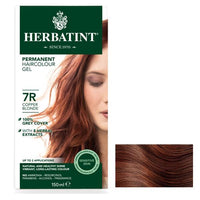 "Herbatint ""R"" Copper Natural Herb Based Hair Colour 7R Copper Blonde 天然铜基天然发色7R铜金色"