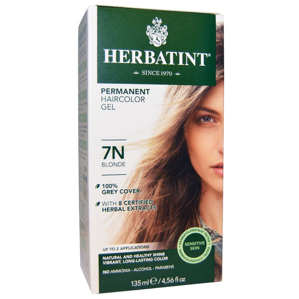 "Herbatint ""N"" Series Natural Herb Based Hair Colour 7N Blonde "" N""系列天然植物基染发剂7N金发"