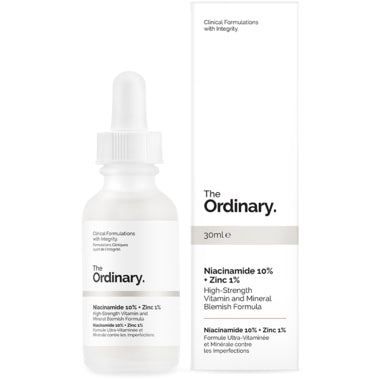 The Ordinary Niacinamide 10% + Zinc 1% 30ml 烟酰胺精华控油收毛孔