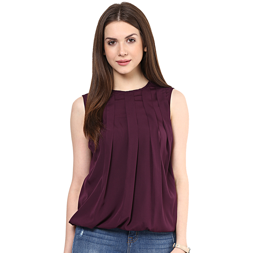 girls maroon top