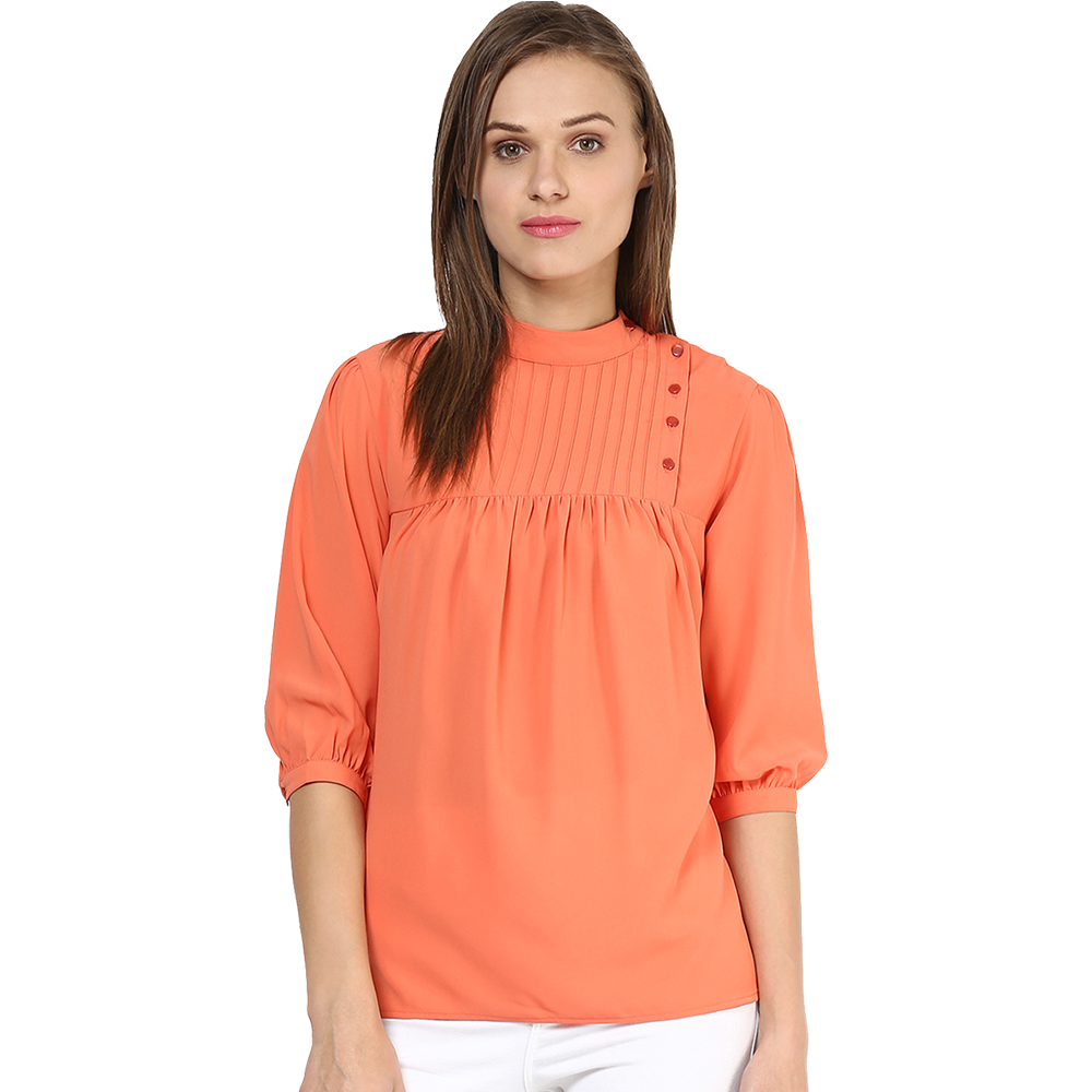 girls plain orange top