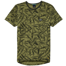 mens green printed t-shirt