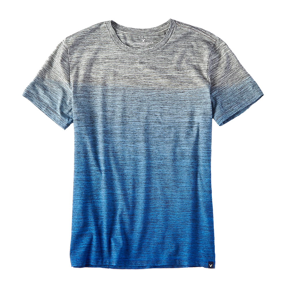 Men's rich blue & gray t-shirt