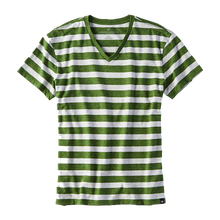 Men's green & white t-shirt