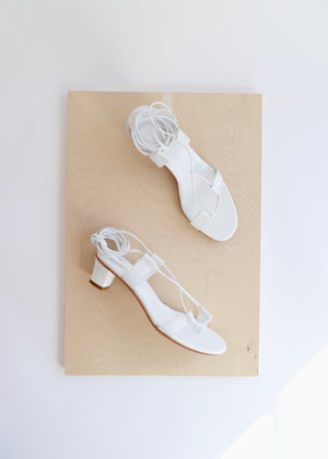 MARTINIANO PAVONE SANDAL IN WHITE