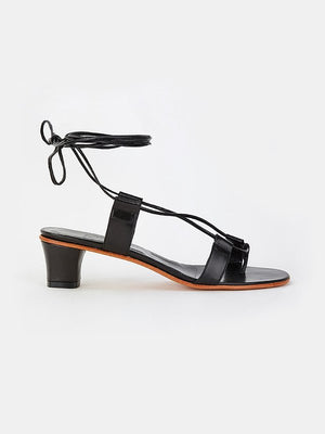 MARTINIANO PAVONE SANDAL IN BLACK