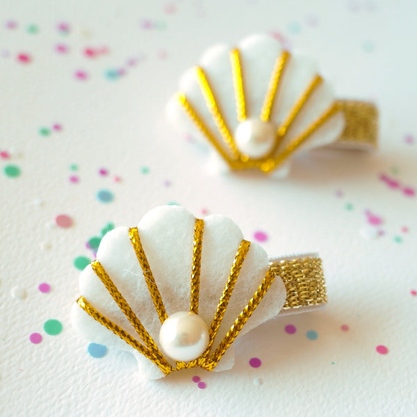 Golden Shell Clip - Set of 2