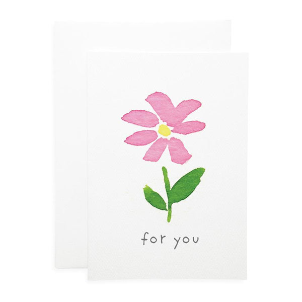 For You Flower Card