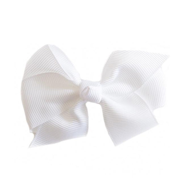 Smal Grosgrain White Bows - Set of 2