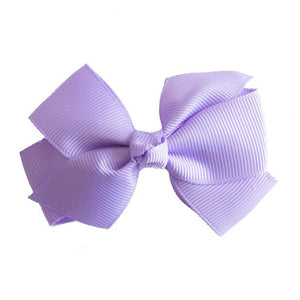 Small Grosgrain Purple Bows - Set of 2