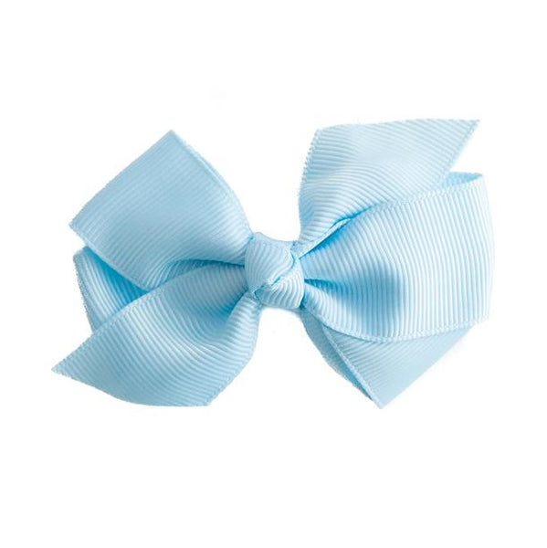 Small Grosgrain Blue Bows - Set of 2