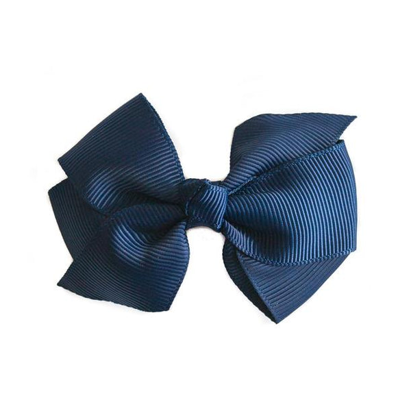Small Grosgrain Navy Bows - Set of 2